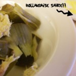 Steamed Artichokes with Hollandaise Sauce