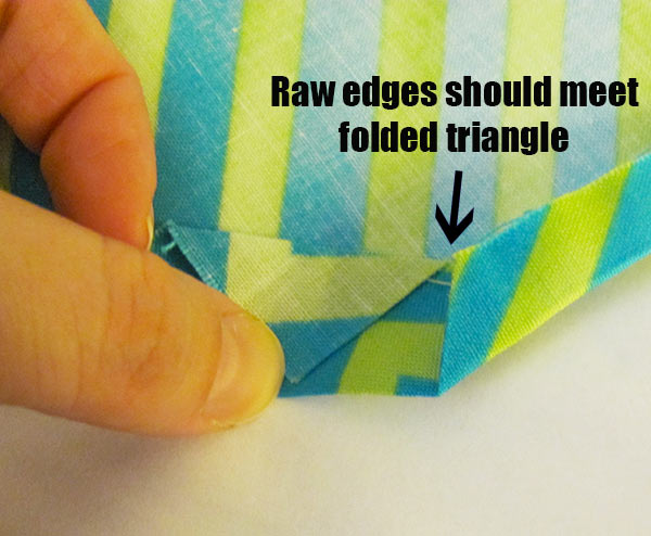 Step 5: Fold edges in
